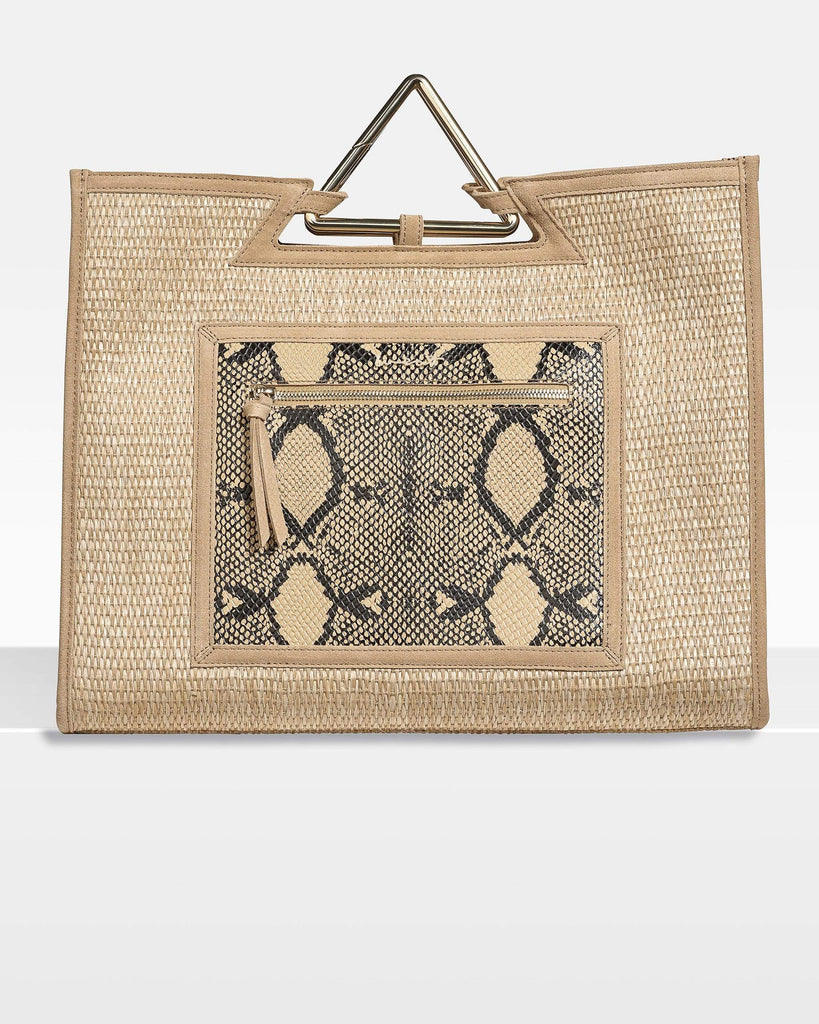 We Eat Avocado Toast Bags Shopper Raffia Snake