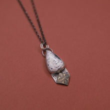 Load image into Gallery viewer, Sterling dalmation jasper teardrop pendant