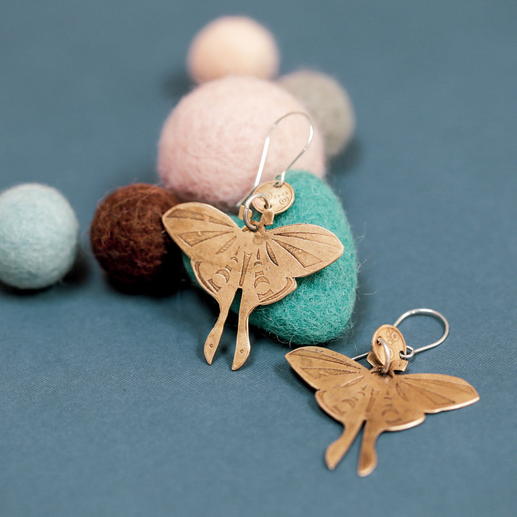 Moths Earrings #2