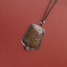 Load image into Gallery viewer, Sterling and agate pendant