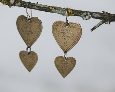 Mystic Heart Earrings