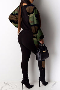 Casual Camo 2 Piece Jumper - Available in Plus Size