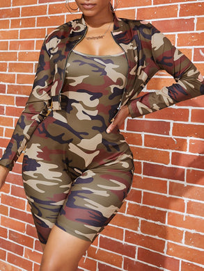 Camo Two Piece Short Set