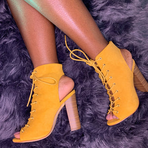 Jessica Bootie (Yellow-Orange) DevaWear