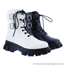 Load image into Gallery viewer, White Combat Boot