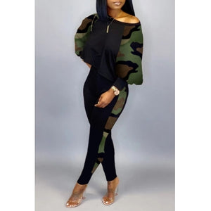 Casual Camo 2 Piece Jumper