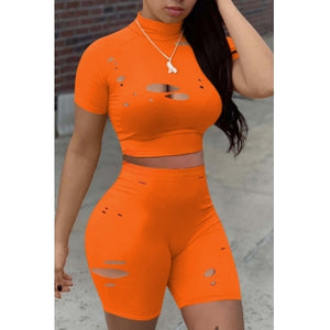 Orange Short Set