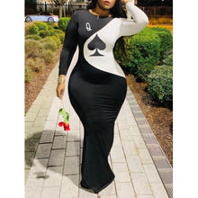 Load image into Gallery viewer, Plus Size Classic O Neck Maxi