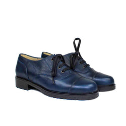 JANET Navy Blue Leather Cow