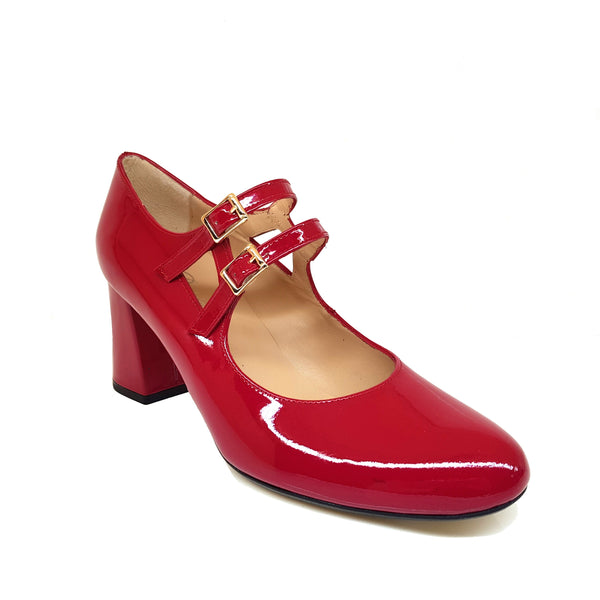 VRADOX Red Leather Patent
