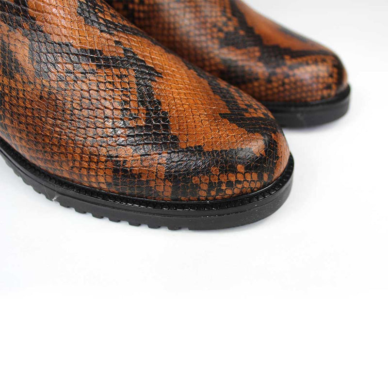 JADA Brown & Black Snake Leather Print