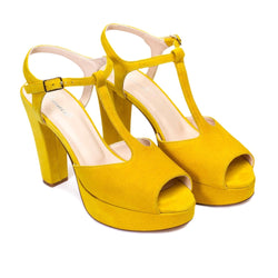 IRIS Yellow Leather Suede