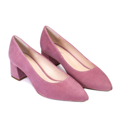 TRIVIA Violet Mauve Leather Suede