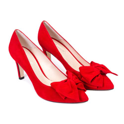 MILENA Red Leather Suede