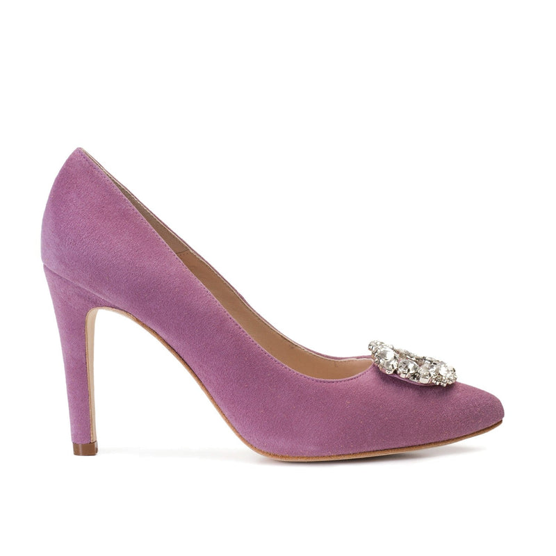 MINERVA Violet Mauve Leather Suede