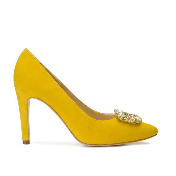 MINERVA Yellow Leather Suede