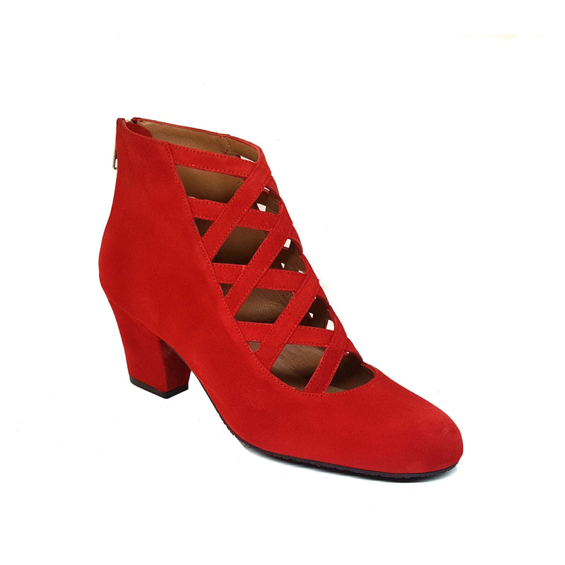 XUPPA Red Leather Suede