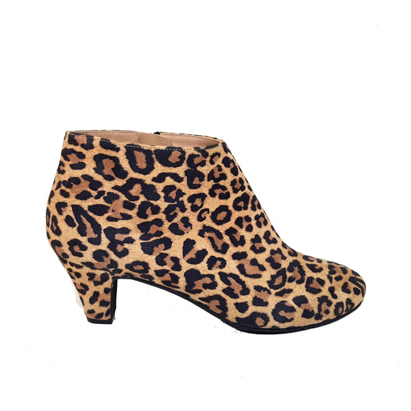ELIPE Leopard Leather Suede