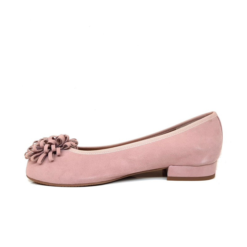 CERIELLE Pink Leather Suede