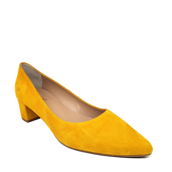 DAILA Mustard Leather Suede