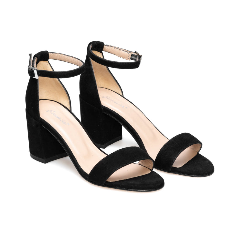 DIOSA Black Leather Suede