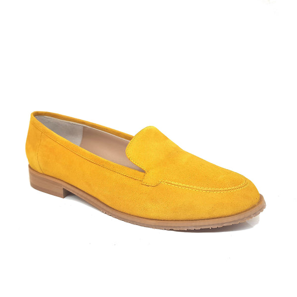 DOFICESIN Mustard Leather Suede