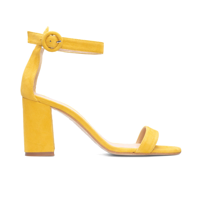 FULAR Mustard Leather Suede