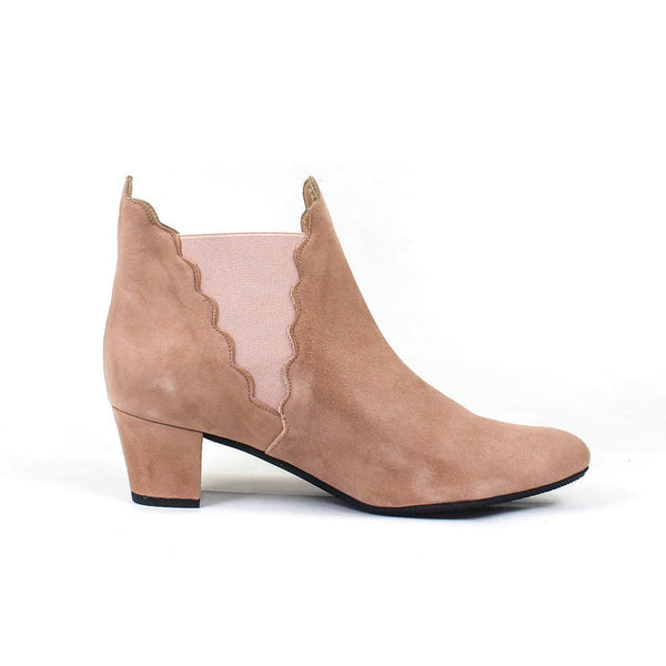 KATERINE Beige Sand Leather Suede