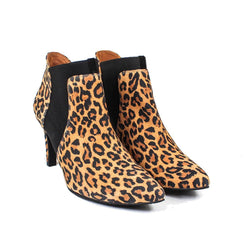 MALOME Leopard Leather Suede