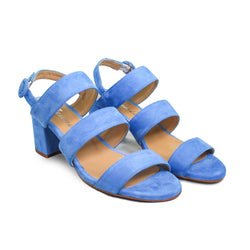 SHEYLA Blue Suede Leather