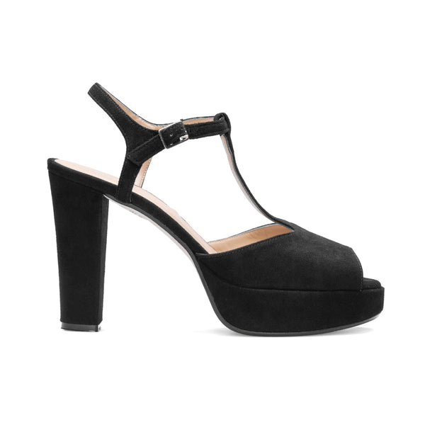 IRIS Black Leather Suede