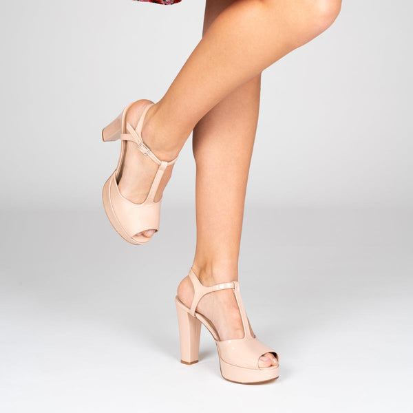 IRIS Nude Leather Patent