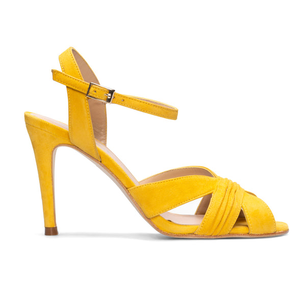 FERIDE Mustard Leather Suede