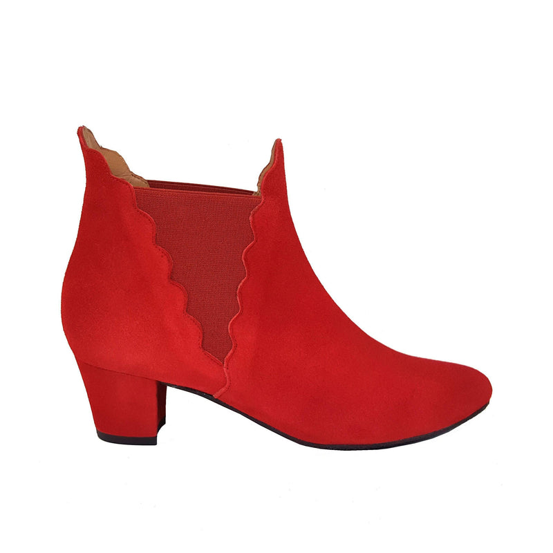 KATERINE Red Leather Suede