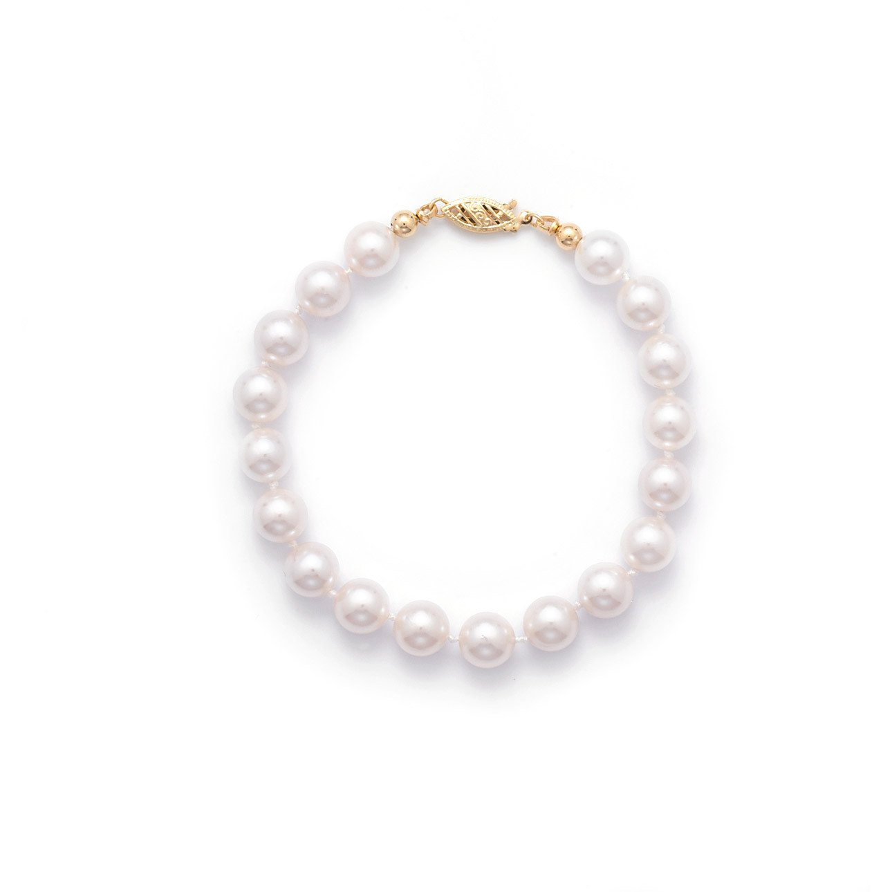 "7"" 7.5-8mm Grade AAA Cultured Akoya Pearl Bracelet"