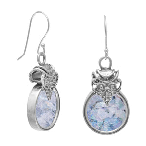Ancient Roman Glass Circular Earrings