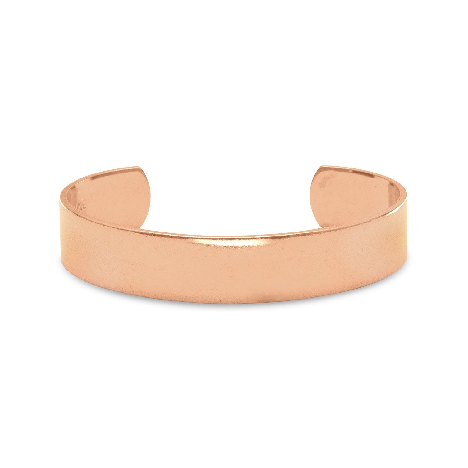Polished Solid Copper Cuff Bracelet