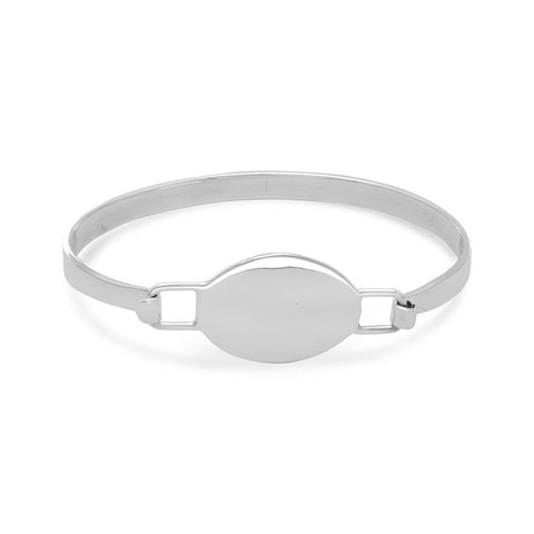Oval Engravable Tag Bangle