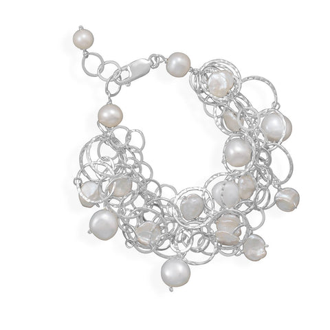 "7""+1"" Extension 5 Strand Bracelet with Cultured Freshwater Pearls"