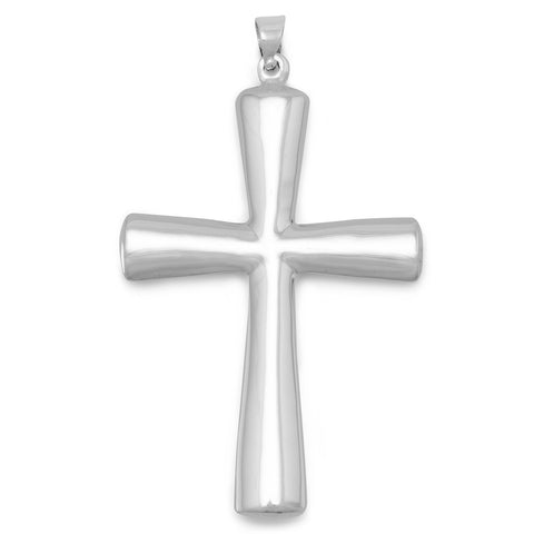 Plain Puffed Cross Pendant