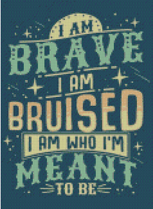 I Am Brave DIY 5D Diamond Painting Cross Stitch