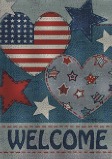 America Welcome DIY 5D Diamond Painting Cross Stitch