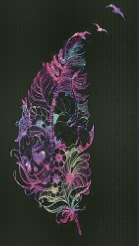 Light as a Feather DIY 5D Diamond Painting Cross Stitch