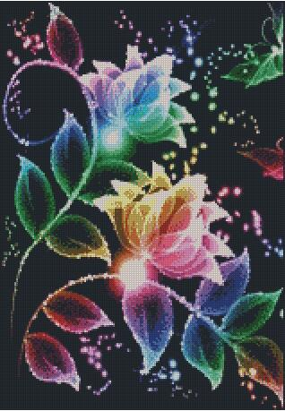 Rainbow Flower DIY 5D Diamond Painting Cross Stitch