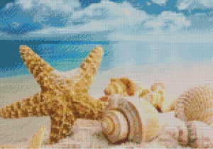 Sea Shells on the Beach DIY 5D Diamond Painting Cross Stitch