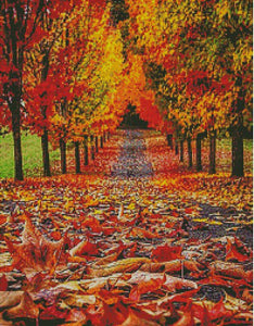 Fall Landscape DIY 5D Diamond Painting Cross Stitch