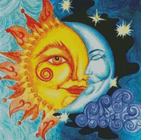 Sun & Moon DIY 5D Diamond Painting Cross Stitch