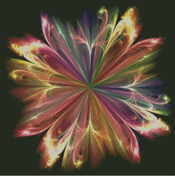 Rainbow Flower #2 DIY 5D Diamond Painting Cross Stitch