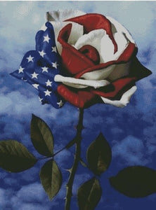 America's Rose DIY 5D Diamond Painting Cross Stitch