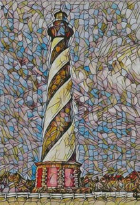 Lighthouse Stained Glass DIY 5D Diamond Painting Cross Stitch